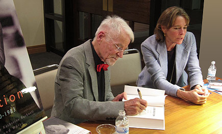 Don Bachardy and Katherine Bucknell signing copies of Christopher Isherwood LIBERATION